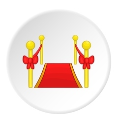 Red carpet icon cartoon style vector image vector image