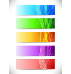 Abstract web headers - collection of cards vector image vector image