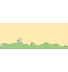 cute idyllic landscape vector image vector image