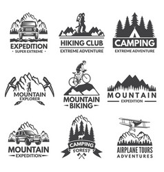 explorer labels set travel pictures vector image vector image