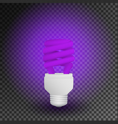 Fluorescent ultraviolet economical light bulb vector