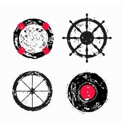 Lifebuoy Ship steering wheel Wheel Vinyl disk vector image