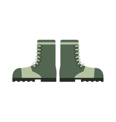 Old military boots leather combat soldier footwear vector image