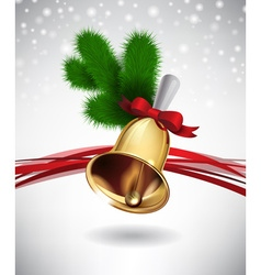 Christmas Bell Design vector image