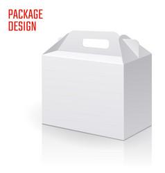 clear gift carton box vector image