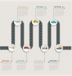road infographic stepwise structure vector image vector image