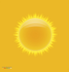 yellow hot sun with beams vector image vector image