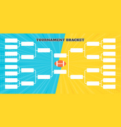 16 american football team tournament bracket vector