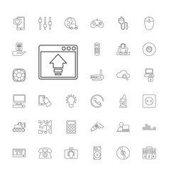 33 technology icons vector