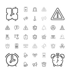 37 alert icons vector