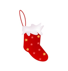 A Lovely Red Christmas Stocking vector image