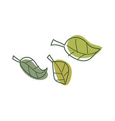 A view of leaf vector image