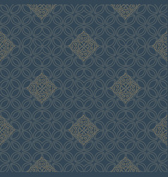 Abstract line art eastern pattern vector