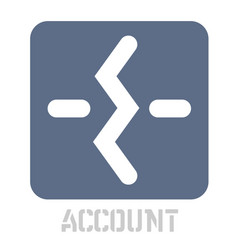 account conceptual graphic icon vector image