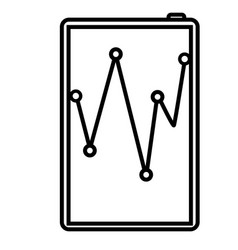 analytics business chart diagram finance icon vector image