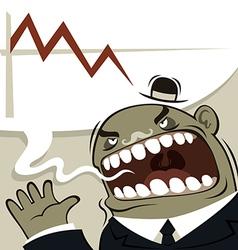 angry boss shouting vector image