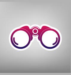 Binocular sign purple vector