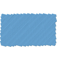 Blue cube pattern vector