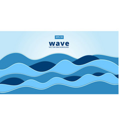 Blue ocean sea wave background vector