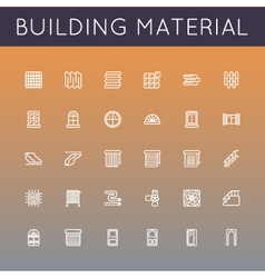Building Material Line Icons vector
