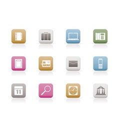 business and mobile phone icons vector image