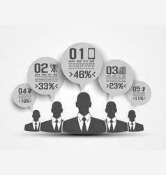 businessman concept of five option grey vector image