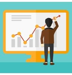 Businessman presenting report vector image