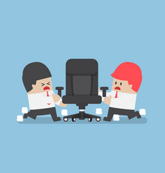 businessmen fighting for ceo chair vector image