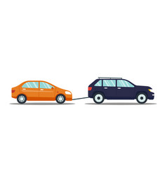 Car evacuating broken or damaged auto isolated on vector