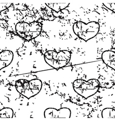 Cardiology pattern grunge monochrome vector image