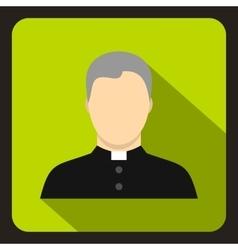 Catholic priest icon flat style vector image