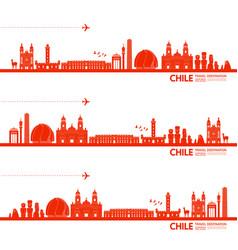 Chile travel destination vector