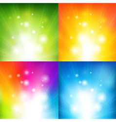 Color Backgrounds With Beams vector image