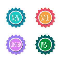 color sale stickers collection labels set vector image