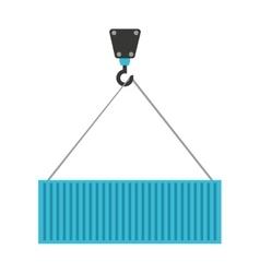 crane hook lifting icon vector image