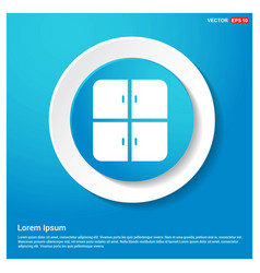 cupboard icon abstract blue web sticker button vector image