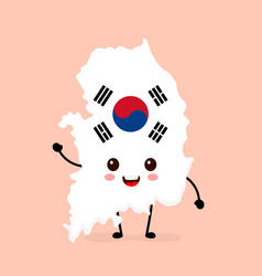 cute funny smiling happy south korea vector image
