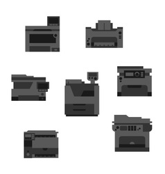 Dark printer icons vector image