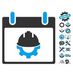 Development Calendar Day Icon With Bonus vector