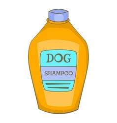 Dog shampoo icon cartoon style vector image