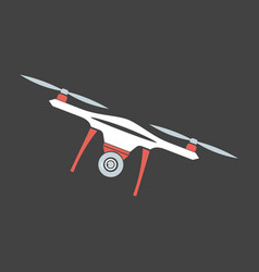 Drone with camera modern flying copters with vector