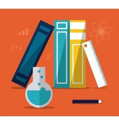 Education learning school books design vector