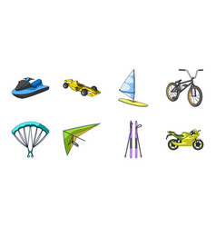 extreme sport icons in set collection for design vector image