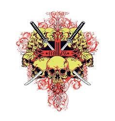 Fearless skulls vector