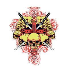 Fearless skulls vector image