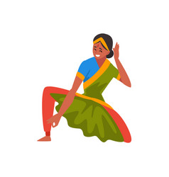 Female indian dancer in traditional clothes vector
