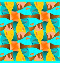 Fish tessellation vector