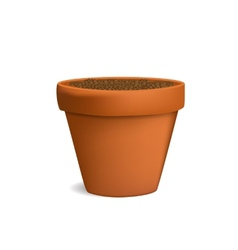 flowerpot with ground vector image