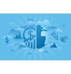 Global economics blue vector