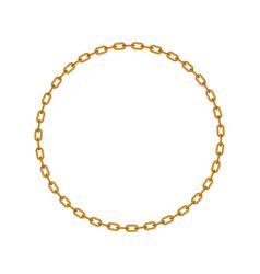 golden chain in shape of circle vector image